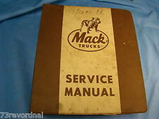 Mack Service Manual ML526S Mid Liner Chassis Full service manual Great Condition