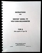 Weston 779 type 8 and 1B Volt-Ohm-Milammeter  Manual
