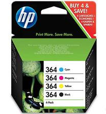 4x HP364 ORIGINAL DRUCKER PATRONE PHOTOSMART6520 7520 B109N C310A OFFICEJET 4620