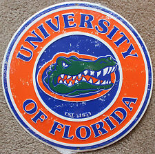 "Florida Gators Sign Licensed College Metal Round Sign 12"" University of Ncaa"