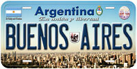 Buenos Aires Argentina Novelty Car License Plate