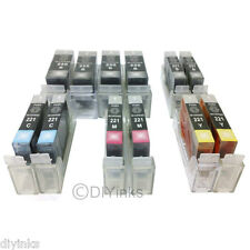 12 Pack PGI-225 CLI-226 SCIS Ink System for Canon Pixma MX880 MX712 MG5220 RFB