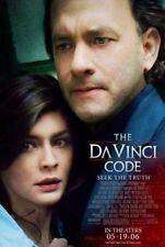 DA VINCI CODE - 2006 orig movie poster- Final Style B - TOM HANKS, AUDREY TAUTOU