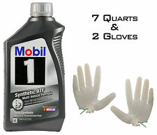 Mobil 1 ATF Synthetic 7 quarts (Automatic Transmission Fluid) + 2 Gloves