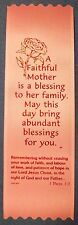 """A Faithful Mother is a blessing..."" Pack of 50 Mother's Day ribbon bookmarks"