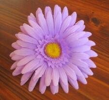 "Full 4.5"" Lavender Daisy Silk Flower Hair Comb,Rockabilly,Pin up,French Twist,"