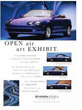 PUBLICITE ADVERTISING  1995  USA  TOYOTA  CELICA