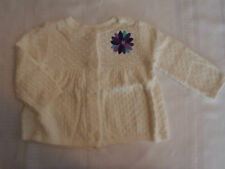 Gymboree Winter Peacock 6-12 Month Button Front Long Sleeve Ivory Sweater NWT
