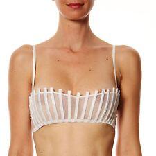 La Perla Graphique Couture White Bandeau Bra IT 3B & Suspender Belt & Thong IT 2