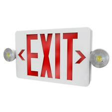 Philips 2-Light Thermoplastic LED White Exit/Emergency Combo