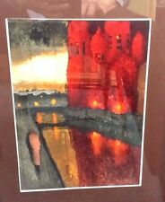 WONDERFUL OIL PAINTING ABSTRACT SIGNED VIETNAM ? KOREA ? ITALY ? CANNOT DECIPHER