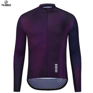 YKYWBIKE Top Quality Cycling Jersey Long Sleeve MTB Bicycle Cycling Sportswear