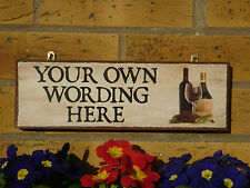 PERSONALISED FUNNY SIGN SHABBY CHIC SIGN YOUR OWN NAME YOUR OWN WORDING OUTDOOR