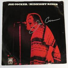 "JOE COCKER Signed Autograph ""Midnight Rider"" 45 rpm 7"" Vinyl Record Single"