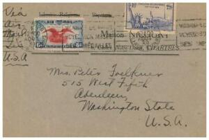 1939 Mixed Franking France/US, C23 Pays US Air Mail France 372