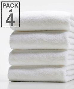 4X White Hotel Quality 100% Egyptian Cotton Big Towel Bath Towels Packs