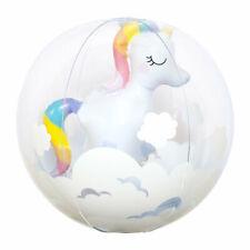 Inflatable 3D Unicorn Beach Ball for Kids Pool Fun Summer