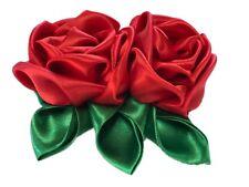 Hello Mariachi Red Flower Hair Pin Brooch Women Handmade Mexican  Flower Hair