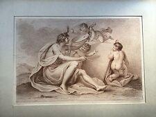 BARTOLOZZI,La pittura,acquaforte stampata in marrone.XIX secolo.