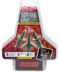 "Swhacker 100 Grain Broadhead w/Practice Head 2"" - 3 Pack"