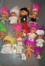 "Lot of 13 Vintage Troll Dolls Russ Ace Mostly 5"" Tall"