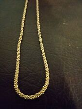14K Two Tone Gold Rope Style Necklace 7 grams