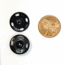 New Sew-On Snaps Fasteners Size:17mm 144 sets package, Color: Black