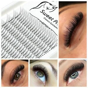 Pre made Russian Lashes Volume Fans 3D XD Mink Eyelash Extensions WINK C D Curl