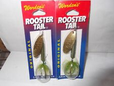 2 Worden's Original Rooster Tail 3/8 oz dressed spinners Frog
