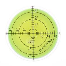 50 x17mm diamètre disque Niveau à Bulle Rond Cercle Circulaire Mesure toolpts