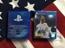 FIFA 18 ps4 game + Ultimate Team Rare Players Pack (New & Sealed)