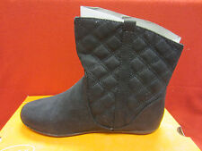New SONOMA life + style Girls Quilted Ankle Boots Size 4 Y Black Cleary Fashion