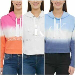 SALE! Calvin Klein Jeans Ladies' Hoodie Sweatshirt Ombre Dip Dye | VARIETY | C35