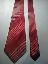 Van Heusen Men's Vintage Silk Tie in Red with Red and Silver Stripe