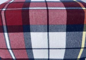 Flannel Sheet Set KING Size 4 Piece 100% Cotton Heavy Deep Pocket Blue Red