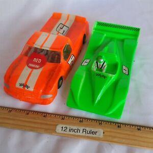 "(2) Parma Flexi 2 Slot Cars 4.5"" Very Nice"