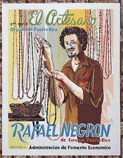 Vera Cortes Poster Serigraph El Artesano Rafael Negron Corozal Puerto Rico 1979