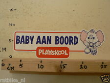 STICKER,DECAL PLAYSKOOL BABY AAN BOORD LARGE