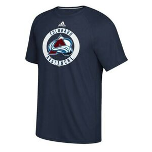 Colorado Avalanche NHL Adidas Men's Navy Practice Climalite Performance T-Shirt