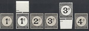 NORTHERN RHODESIA SGD1/4 1929 POSTAGE DUE SET (Incl Chalk) - Unmounted mint