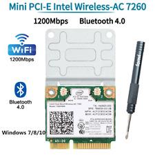 1200Mbps wifi card 7260HMW mini PCI-E WiFi Adapter Bluetooth 4.0 Network Card