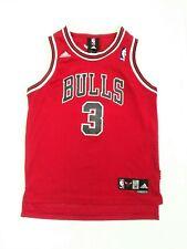Adidas Chicago Bulls Ben Wallace #3 NBA Sewn Red Jersey Youth Boys Medium +2