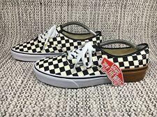 Mens Vans Authentic Checker Flame Black White VN0A38EMRX8