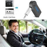 Wireless Bluetooth 3.5mm AUX Audio Stereo Music Car Wth USB Adapter Mic