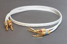 Van den Hul Snowline Speaker Cable - 3.0m Pair - with VDH DIY Spade Plugs