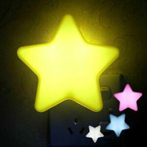 LED Nachtlicht Stern Steckdose Kinder Zimmer Beleuchtung Dämmerungs Sensor