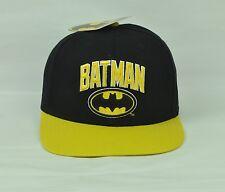 Comic Batman Superhero Snapback Hat Cap Black Yellow Flat Bill Adjustable 2 Tone