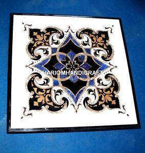 Amazing Square Marble Table Dining Top Inlaid Collectible Traditional Arts H3912