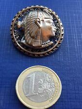 BROCHE EGYPTE ANTIQUE 1900 BROCH METAL ARGENTÉ