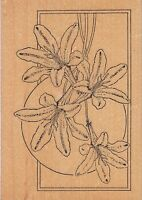 """desert lily tailored artwork Wood Mounted Rubber Stamp 3 1/2 x 5""""  Free Shipping"""